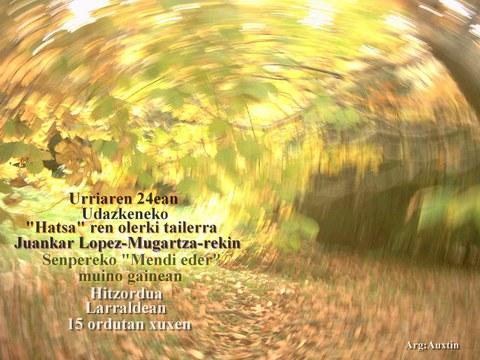 """""""Hatsaren poesia"""" tailerra  [Ezeztatua]"""