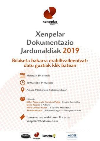 Xenpelar Dokumentazio Jardunaldiak 2019
