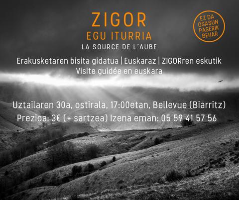 """""""Zigor - Egu iturria"""" erakusketaren bisita gidatua"""