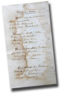 Manuscripts of verses written about the life of Basque fishermen in Newfoundland ''Ternuaco penac'' (18th century)