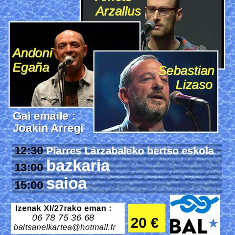 Amets Arzallus + Andoni Egaña + Sebastian Lizaso