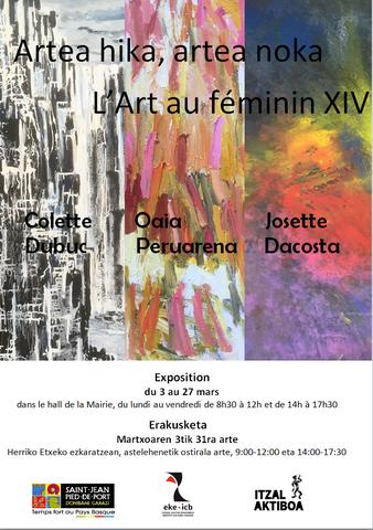 Artea hika, artea noka - L'Art au féminin XIV