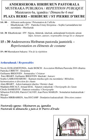 """Anderserora Hiriburun"" pastorala (mustraka publikoa)"
