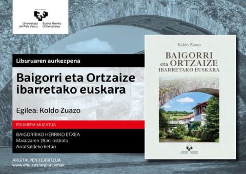 """""""Baigorri eta Ortzaize ibarretako euskara"""" liburuaren aurkezpena"""