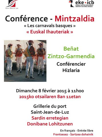 "Beñat Zintzo-Garmendia ""Euskal ihauteriak"""