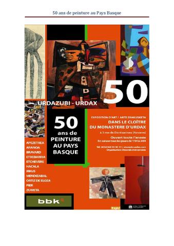 Euskal pintura 50 urtez
