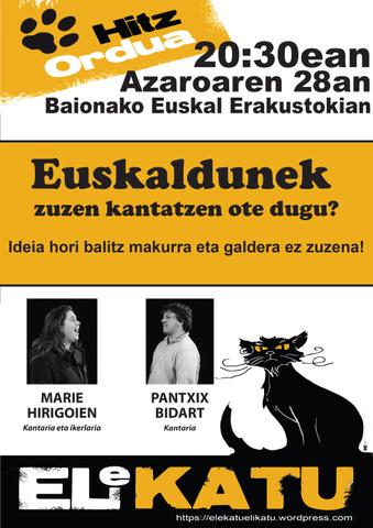Euskaldunek zuzen kantatzen ote dugu ?
