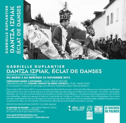"""Gabrielle Duplantier """"Dantza izpiak, éclat de danses"""""""