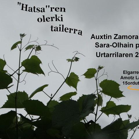 """""""Hatsaren poesia"""" tailerra"""