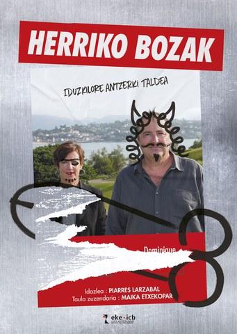 """""""Herriko bozak"""" & """"Babesleku arrotzak eta animalia bakartien hotsak"""" antzezlanak"""