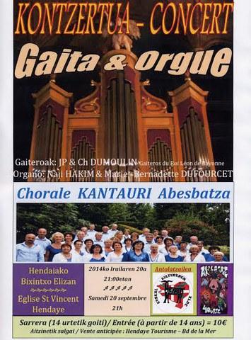Organo eta gaita kontzertua - Kantauri abesbatza
