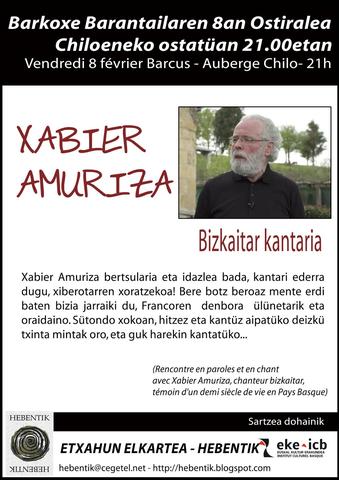 Topaketa Xabier Amuriza-rekin