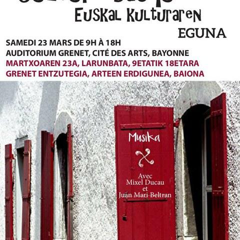 """""""Euskal kulturaren eguna"""" Baionako Arteen Erdigunean"""