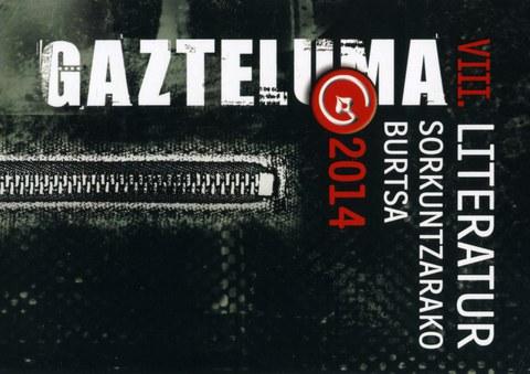Gazteluma literatur sorkuntzarako burtsa 2014