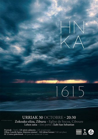 """Hinka taldearen """"1615"""" ikusgarriaren aurkezpena Ziburun"""
