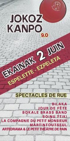Jokoz Kanpo festibalaren 9. edizioa Ezpeletan