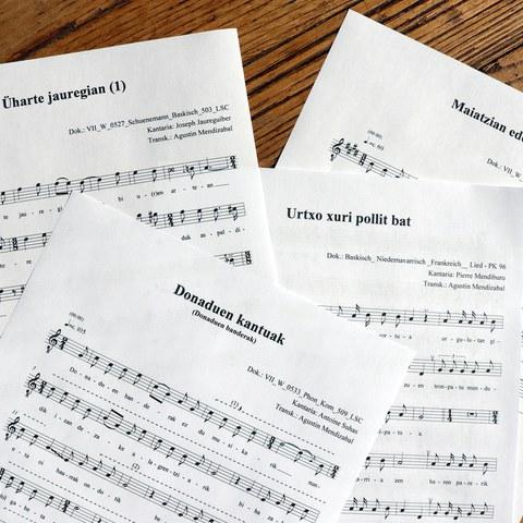 Lehen Mundu gerlako euskal presoen kantuen transkripzio musikala