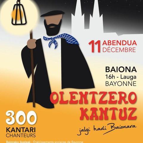 """""""Olentzero kantuz !"""" Baionan"""