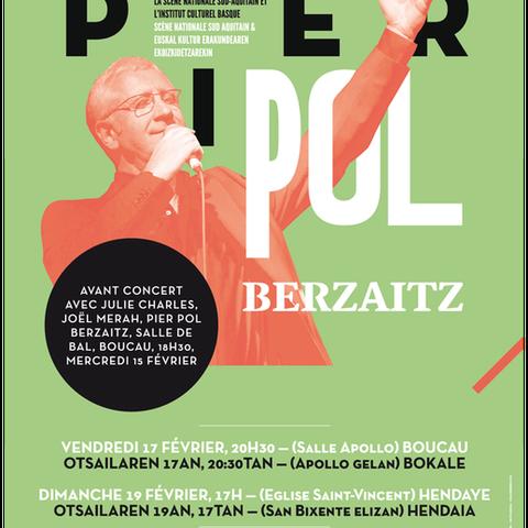 Pier Paul Berzaitz & Baiona-Kostaldeko orkestra zuzenean