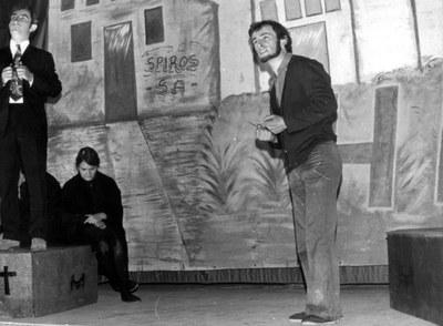 """""""Hil biziak"""" (1974): Henry Biscary, Gracie Etchebehere, Mixel Berhocoirigoin (""""Eskualdun Gazteria"""" taldea)"""