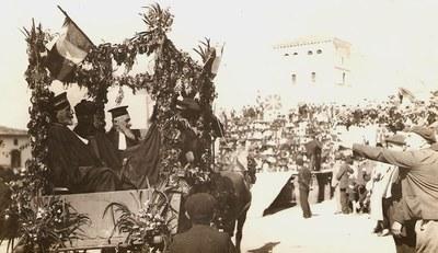 1937ko toberak Irisarrin. Epaileen karrosa