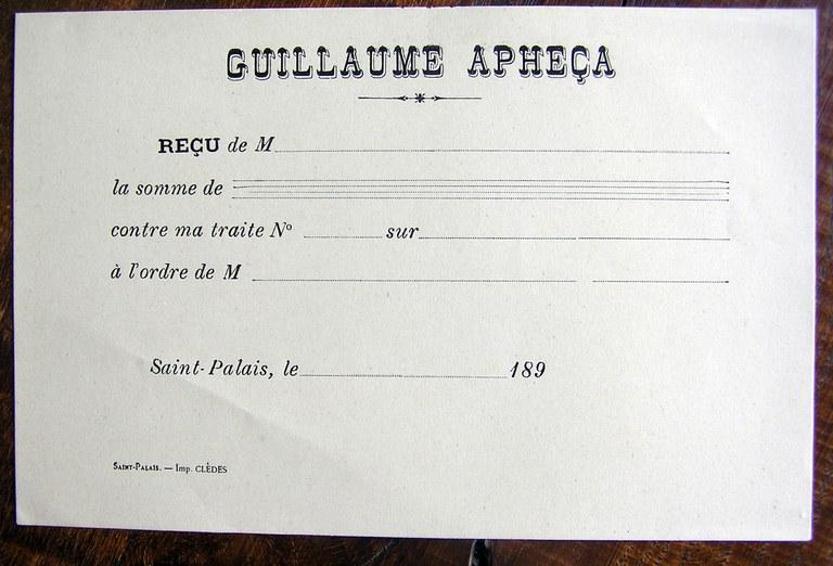 Guillaume Aphezaren ordainagiria