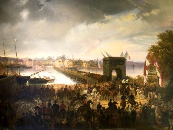 Lapurtar dantzariak Baionan (1839)