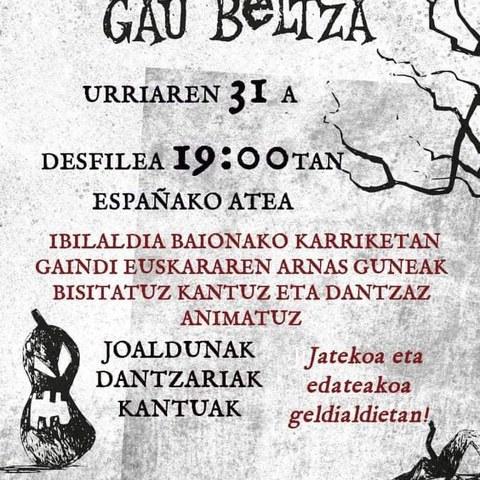 Gau Beltza à Bayonne