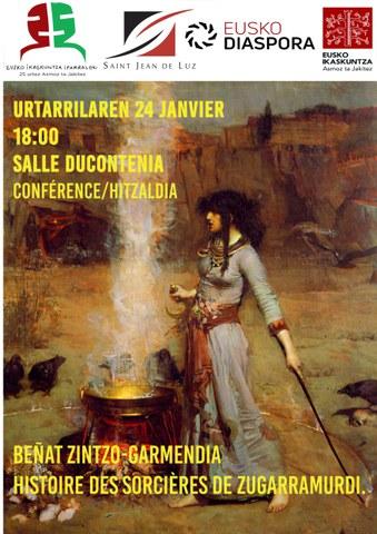 """Beñat Zintzo-Garmendia """"Histoire des sorcières de Zugarramurdi"""""""