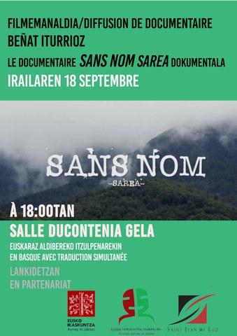 "Documentaire ""Sans nom - Sarea"""