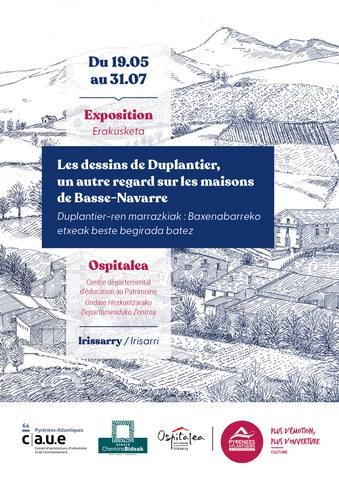 Les dessins de Duplantier : un autre regard sur les maisons de Basse-Navarre