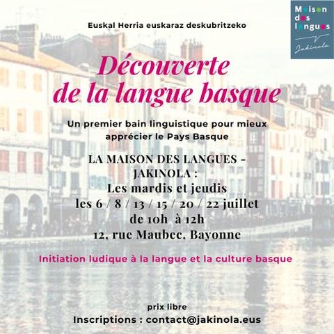 Découverte de la langue basque