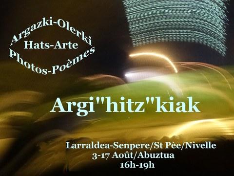 """Exposition Argi """"hitz""""kiak"""