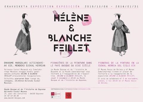 """Exposition """"Hélène et Blanche Feillet, Pionnières de la peinture dans le Pays Basque du XIXe siècle"""""""