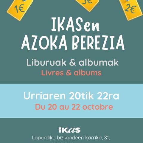 Vente de livres à IKAS