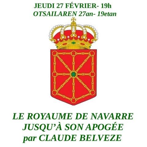 Le Royaume de Navarre jusqu'à son apogée