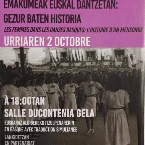 """Oier Araolaza Arrieta """"Les femmes dans les danses basques : l'histoire d'un mensonge"""""""