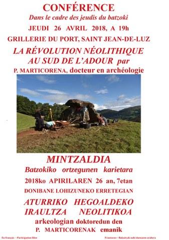 """Pablo Marticorena """"La révolution néolithique au sud de l'Adour"""""""