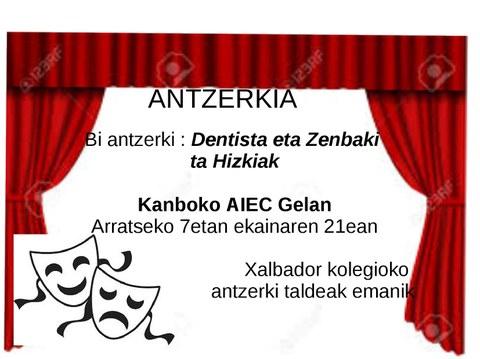 """Pièces """"Dentista"""" + """"Zenbaki ta hizkiak"""""""