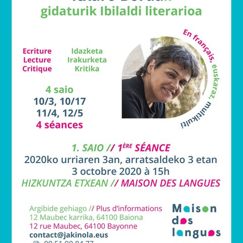 Promenade littéraire guidée par Itxaro Borda