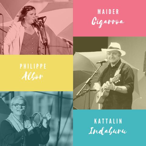 Trio Kattalin Indaburu, Maider Cigarroa et Philippe Albor