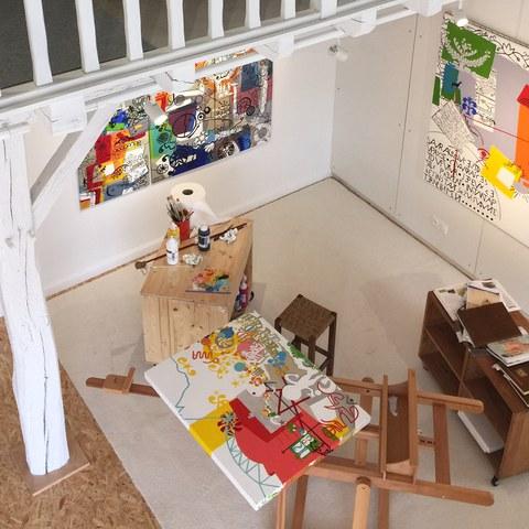 Visite de l'atelier de Marythe Avella