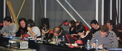 Les juges du Championnat de bertsularis du Pays Basque 2009  (ICB - Maite Deliart)