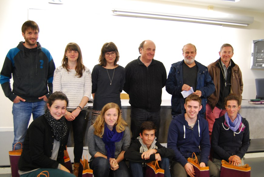 Les lauréats 2014 en compagnie des organisateurs (photo : Maite Deliart - ICB)