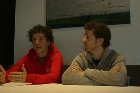 Harkaitz Martinez et Igor Otxoa
