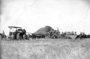 Le battage du grain, Argentine,  début du XXème siècle, coll. part.