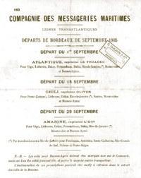Compagnie des messageries maritimes, fonds Apheça, collection musée de Basse Navarre