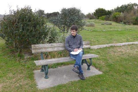 L'improvisateur Odei Barroso au Jardin botanique de St-Jean-de-Luz