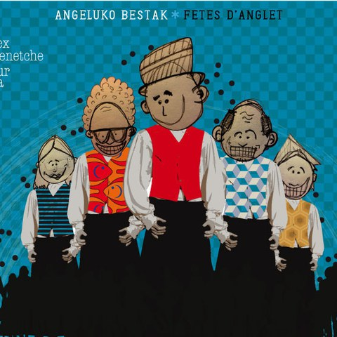 Buruziganteak, défilé-concours de création de grosses têtes et de géants