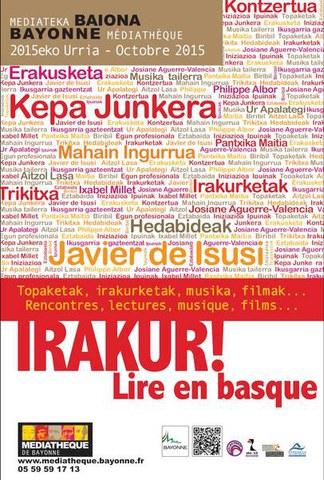 """Cycle """"Irakur ! - Lire en basque"""" 2015"""